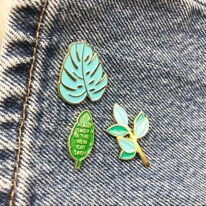 Accessories - NEW Plant Lady Pin Set Enamel Jacket Decoration